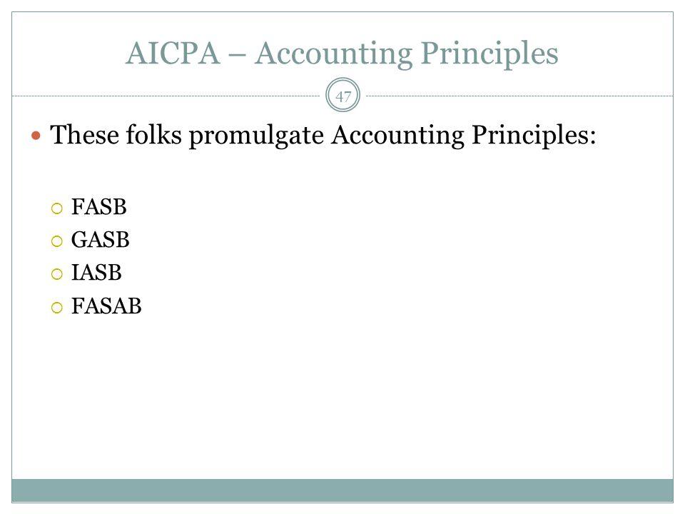 AICPA – Accounting Principles