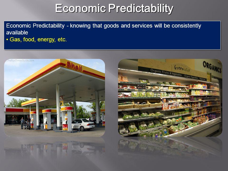 Economic Predictability