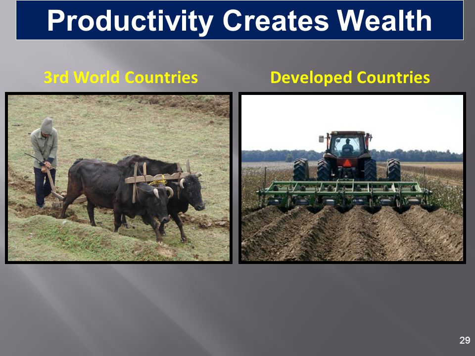 Productivity Creates Wealth