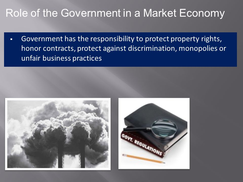 Role of the Government in a Market Economy