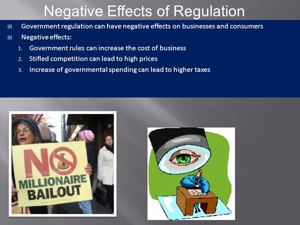 Negative Effects of Regulation
