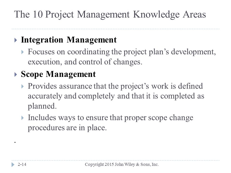 The 10 Project Management Knowledge Areas