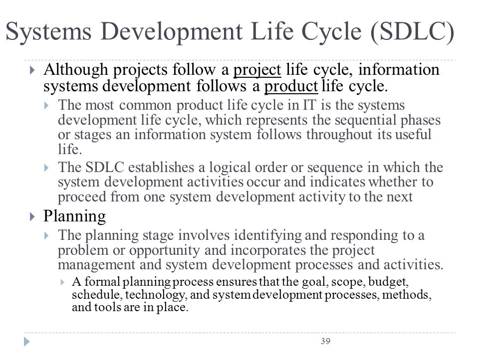 Phases Of System Development Life Cycle Information Technology Essay