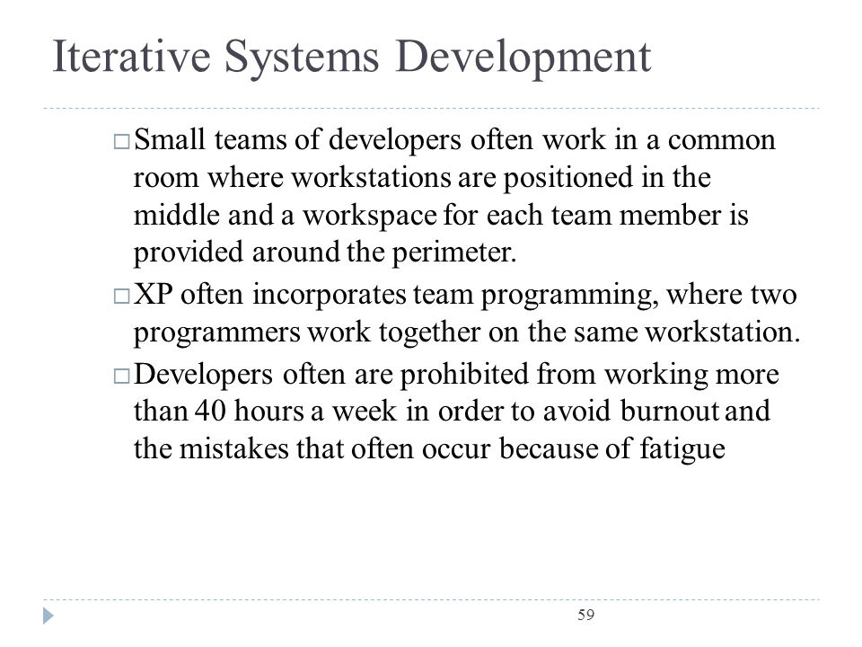 Iterative Systems Development