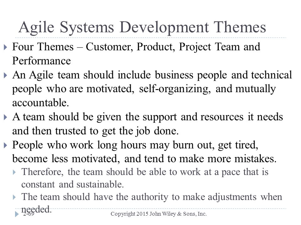 Agile Systems Development Themes