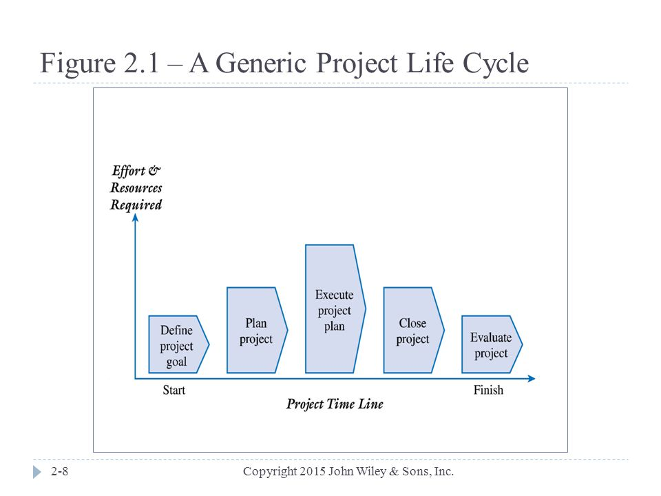 Figure 2.1 – A Generic Project Life Cycle