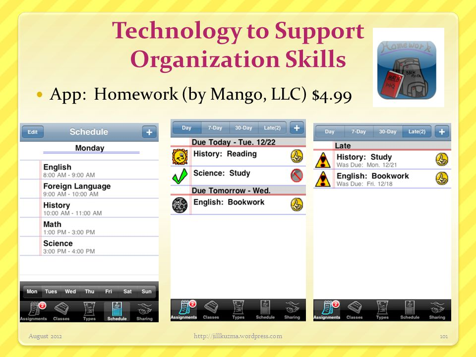 Technology to Support Organization Skills