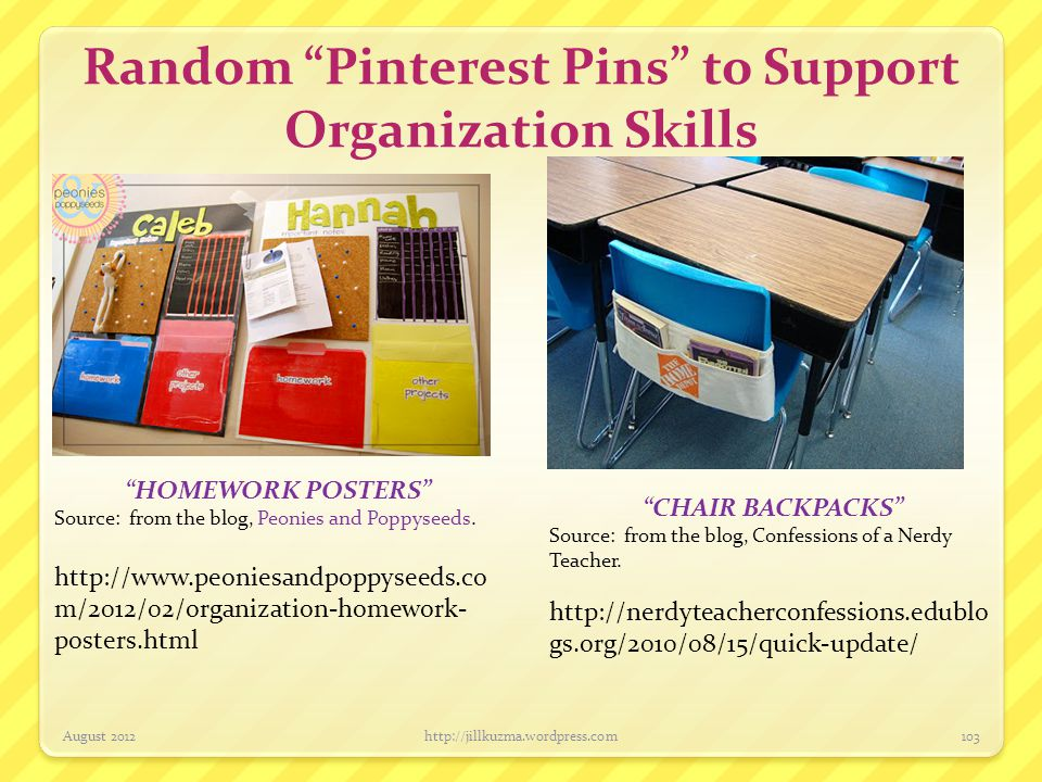 Random Pinterest Pins to Support Organization Skills