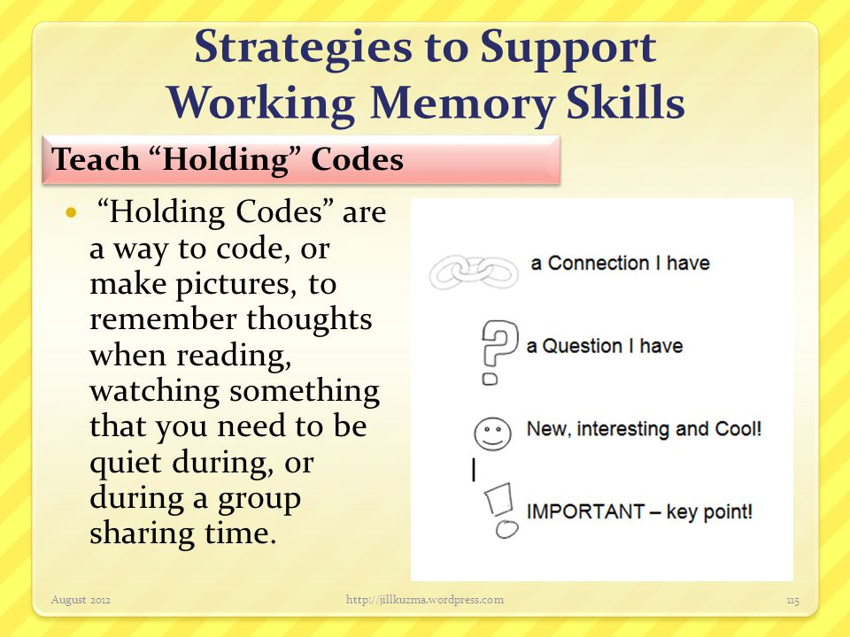Strategies to Support Working Memory Skills