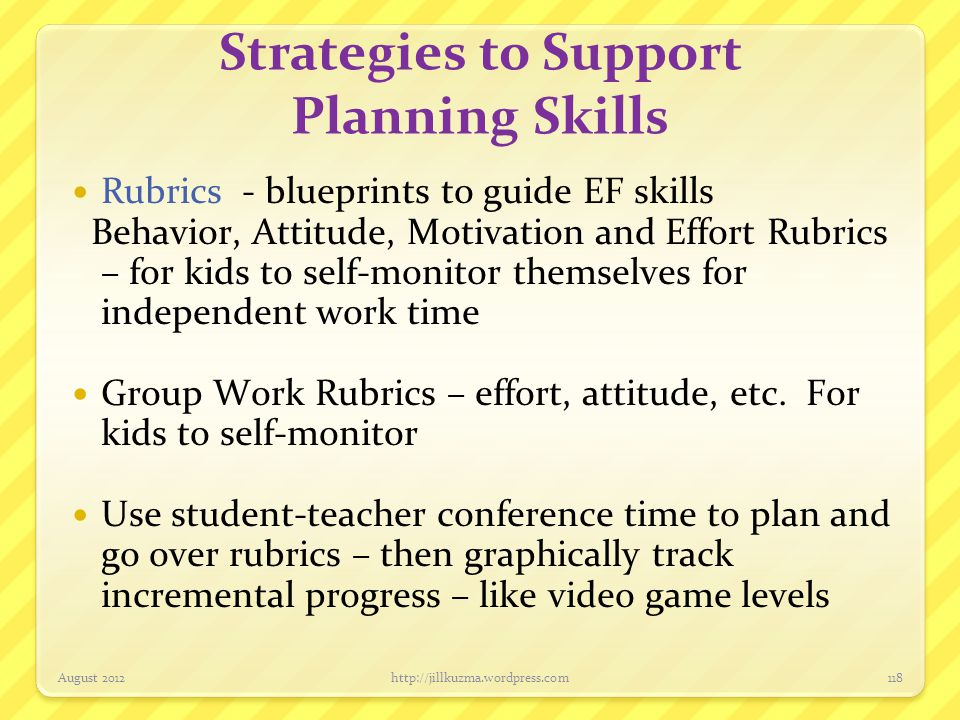 Strategies to Support Planning Skills