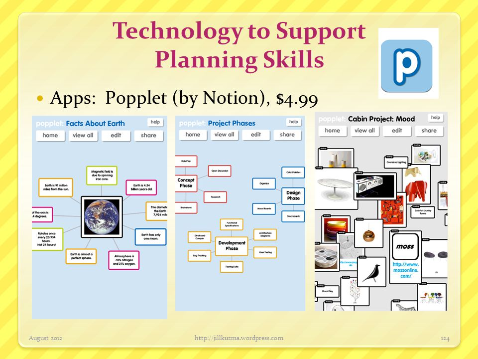 Technology to Support Planning Skills