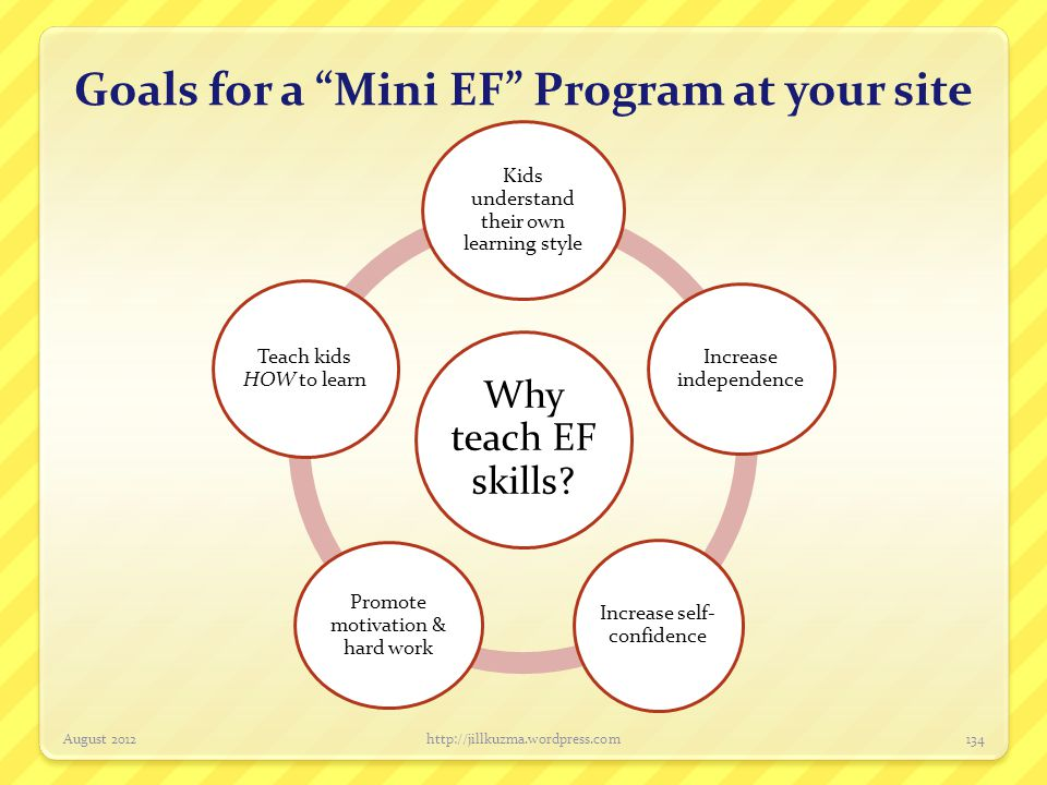 Goals for a Mini EF Program at your site