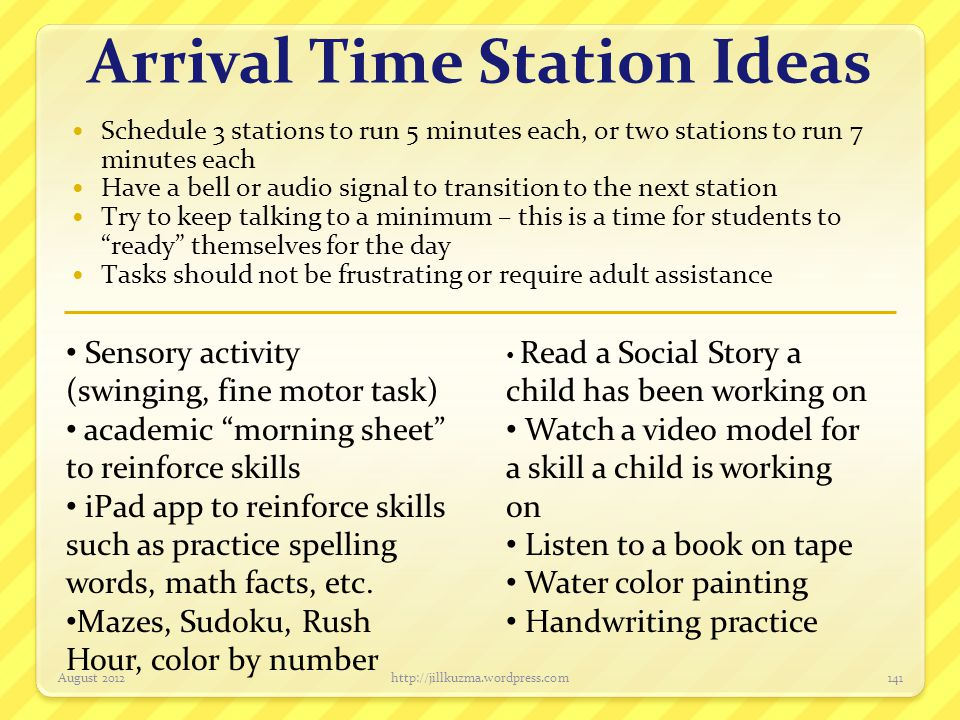 Arrival Time Station Ideas