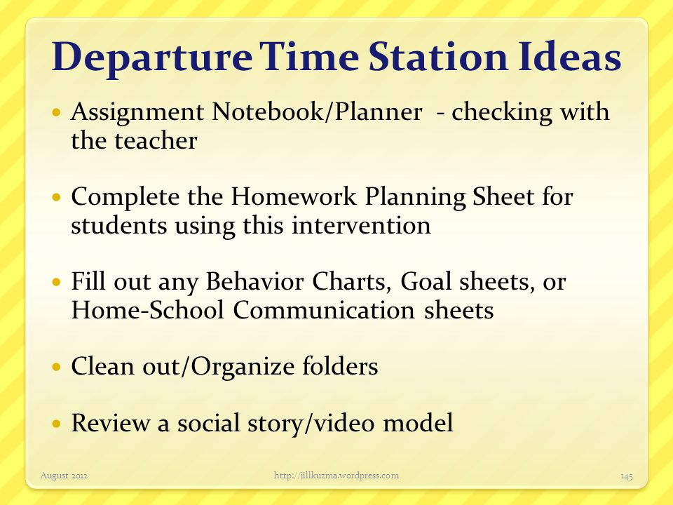 Departure Time Station Ideas