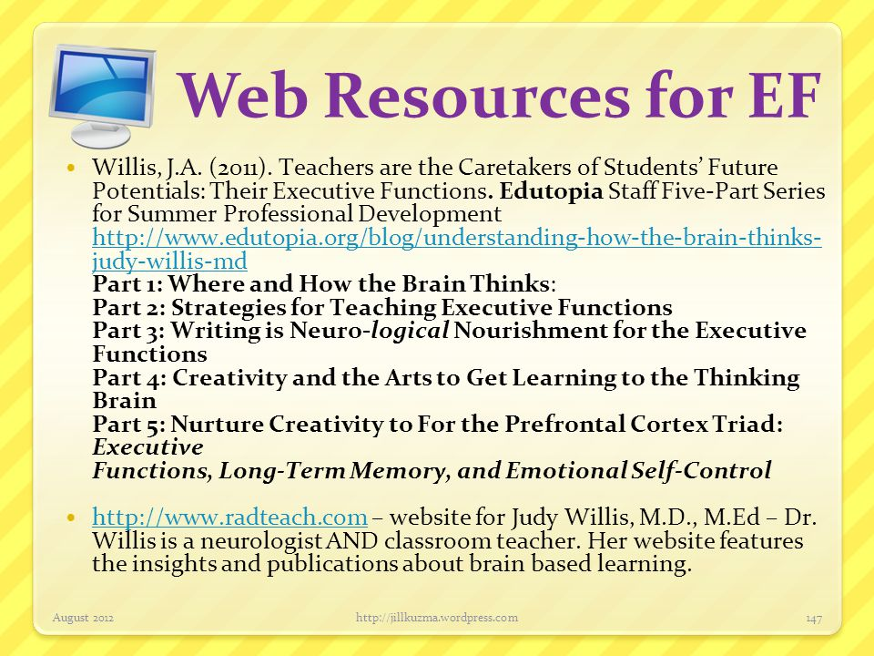 Web Resources for EF