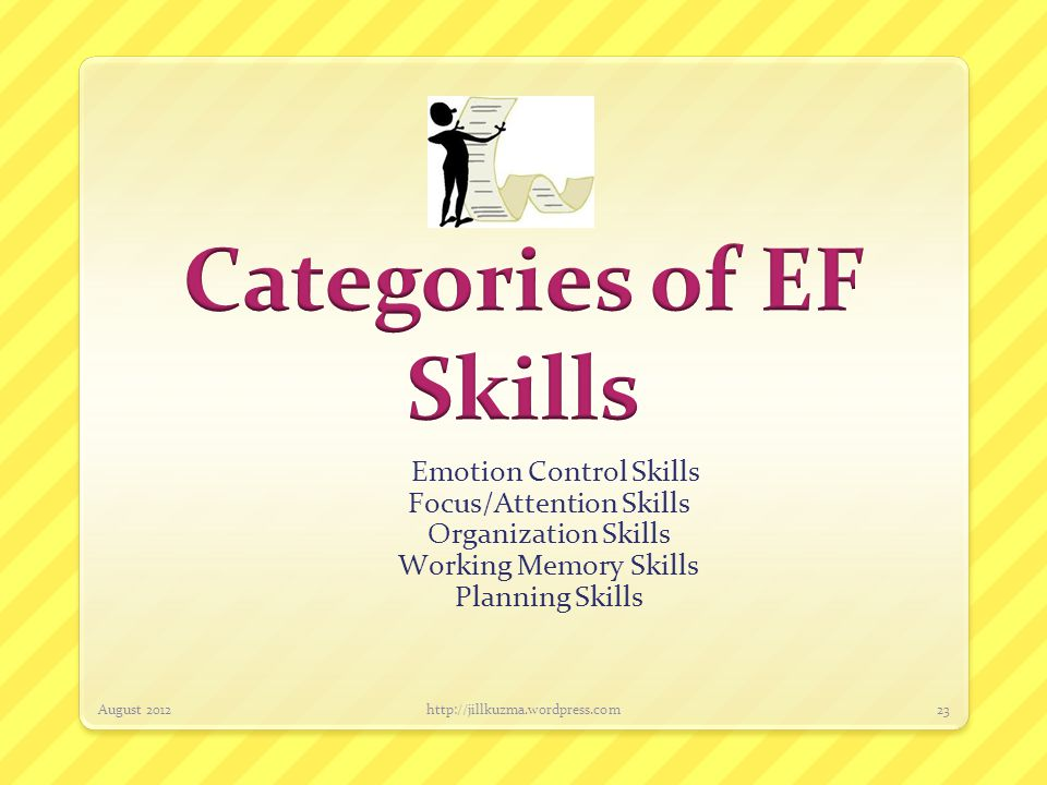 Categories of EF Skills