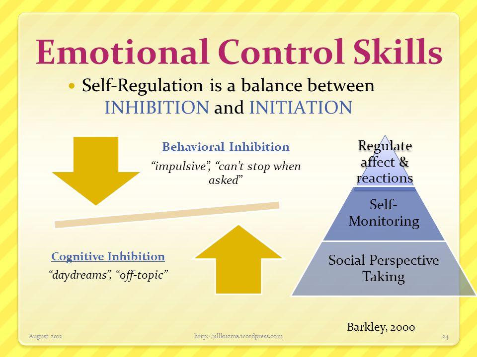 Emotional Control Skills
