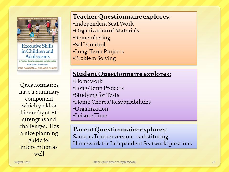 Teacher Questionnaire explores: