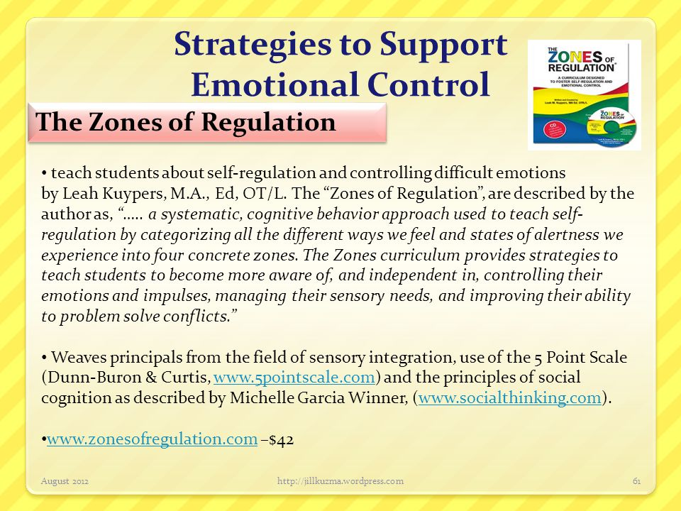 Strategies to Support Emotional Control
