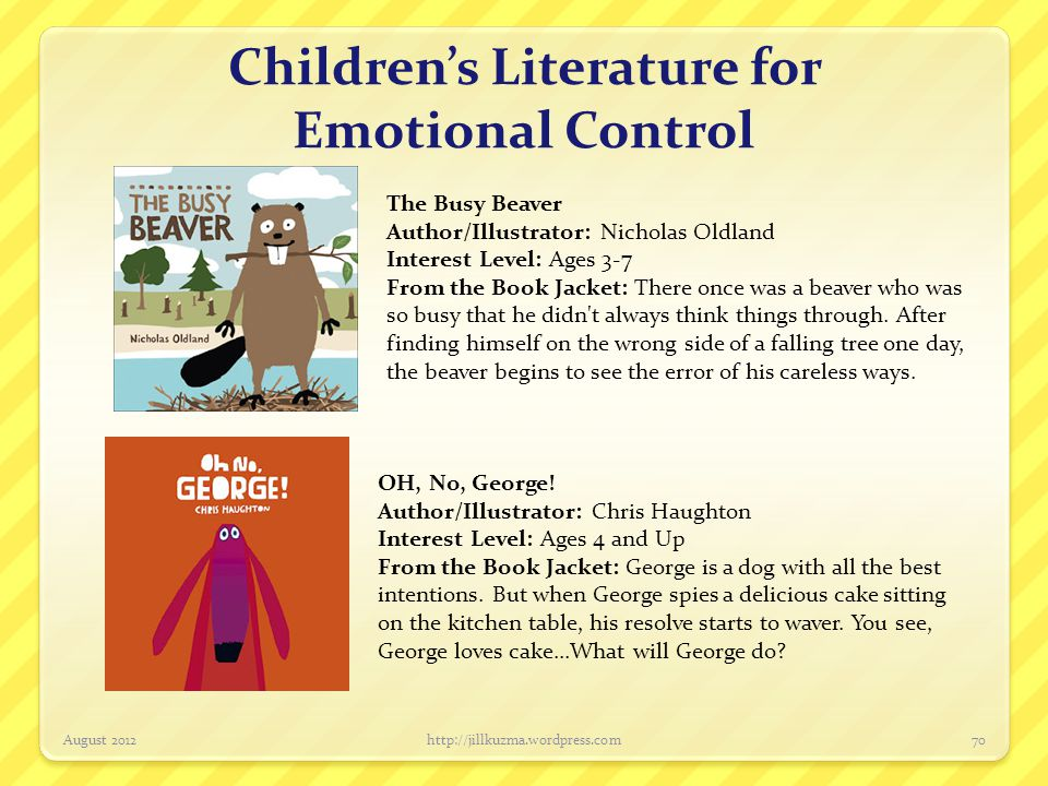 Children's Literature for Emotional Control