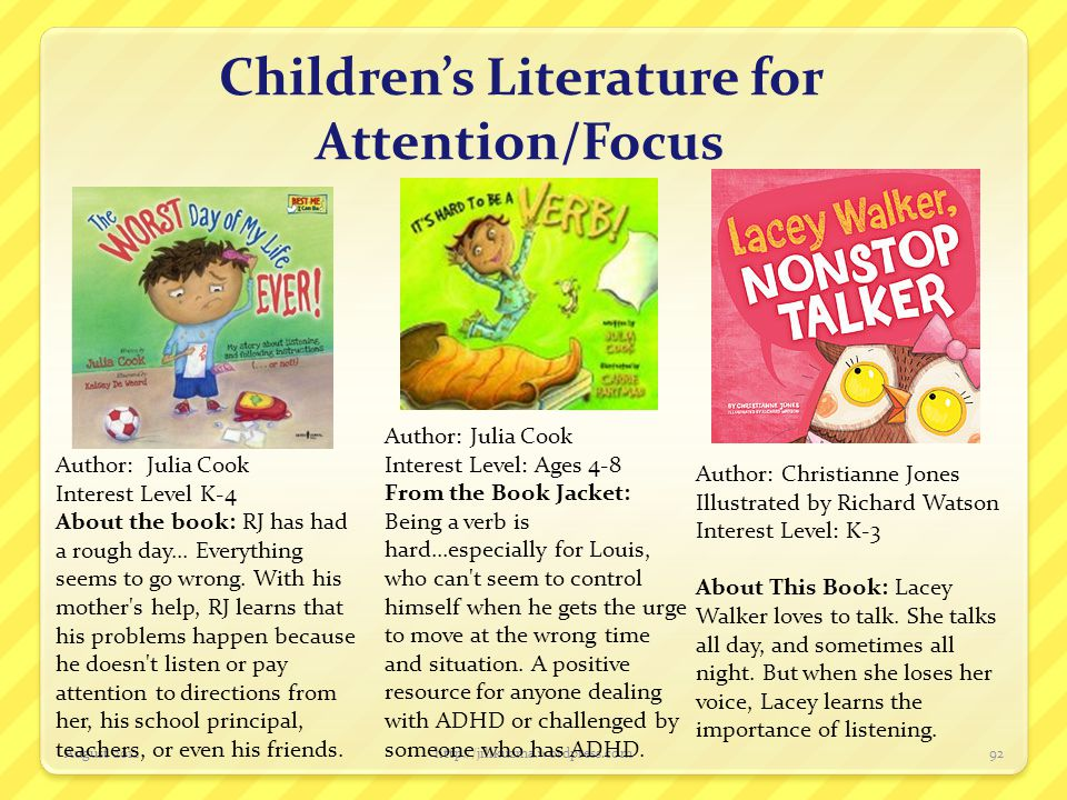 Children's Literature for Attention/Focus