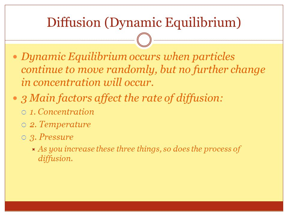 Diffusion (Dynamic Equilibrium)