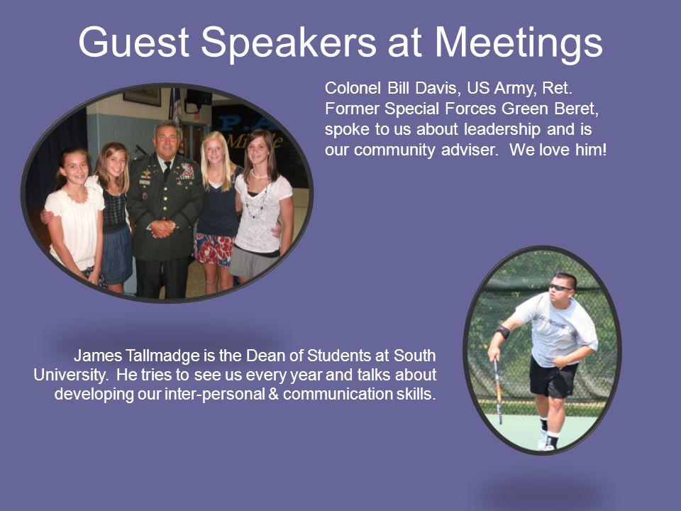 Guest Speakers at Meetings