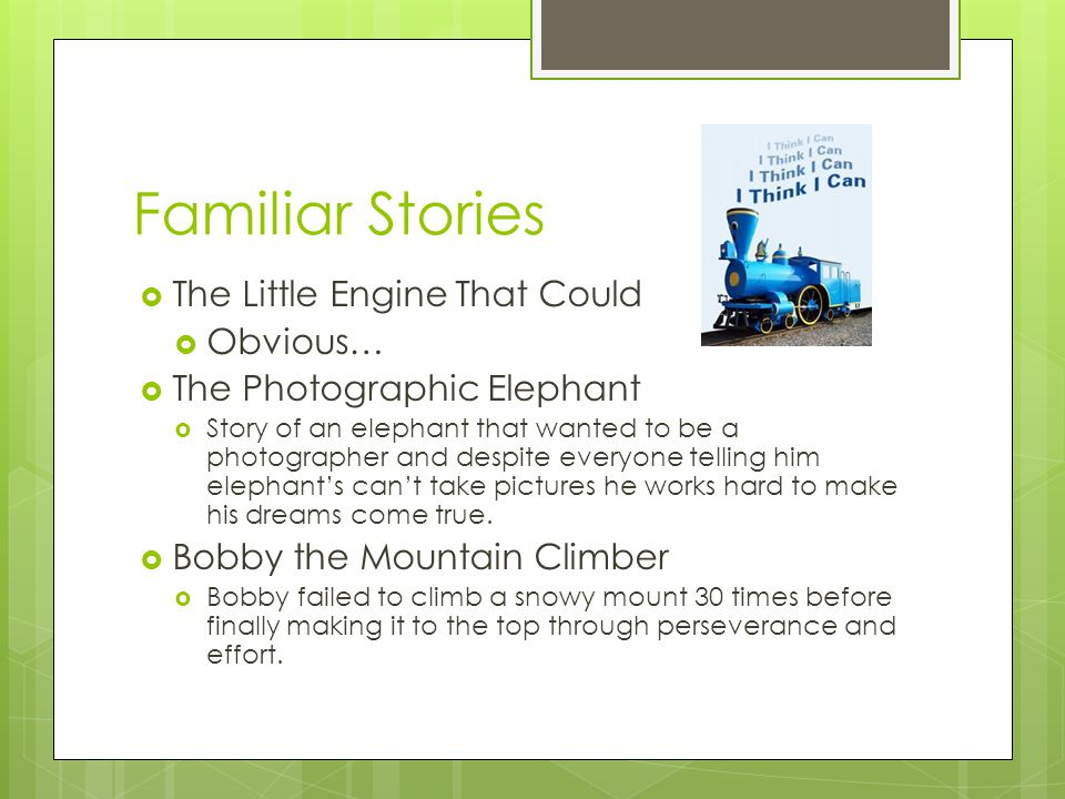 Familiar Stories The Little Engine That Could Obvious…