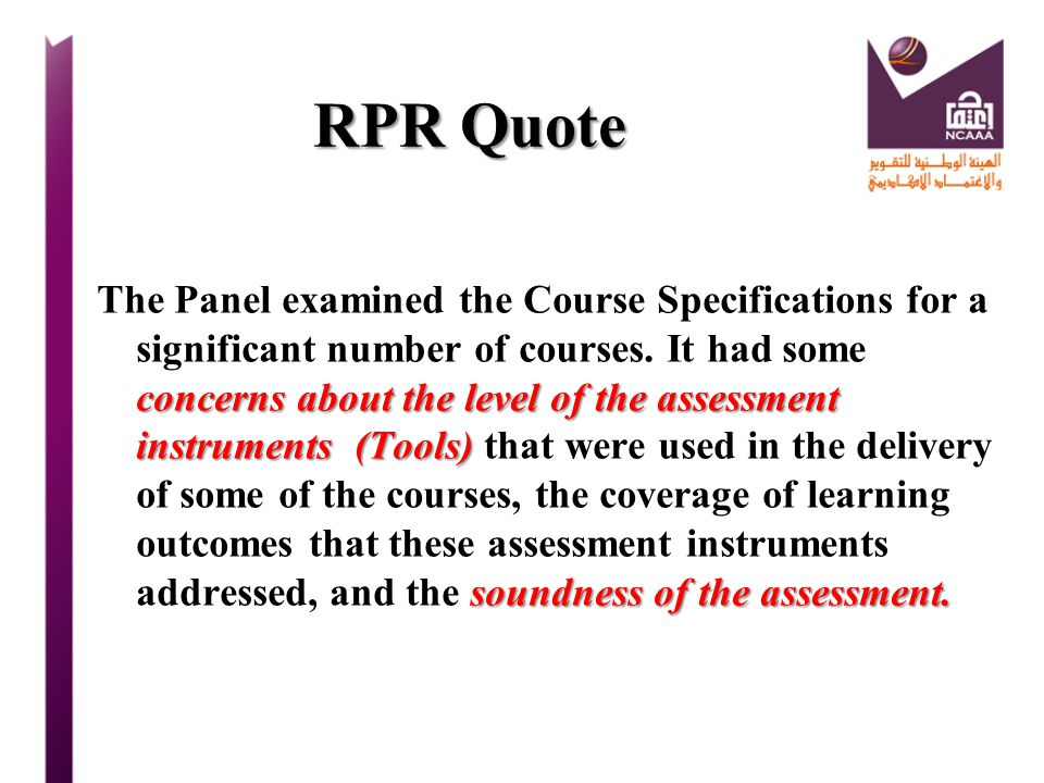 RPR Quote