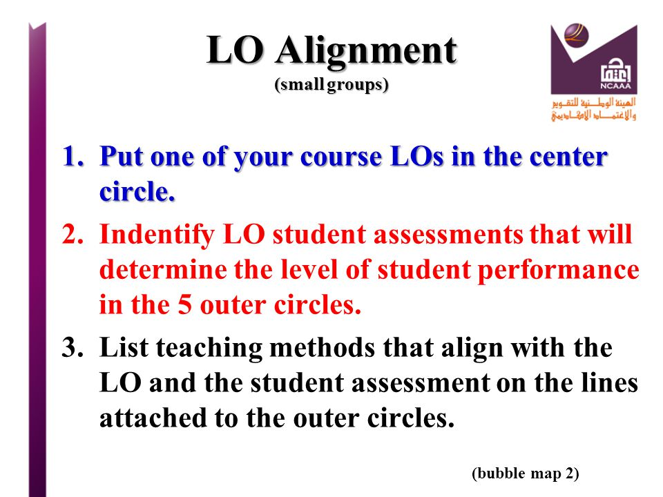 LO Alignment (small groups)