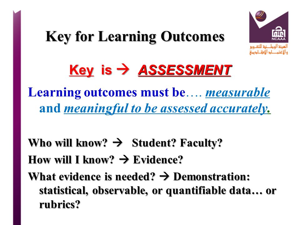 Key for Learning Outcomes