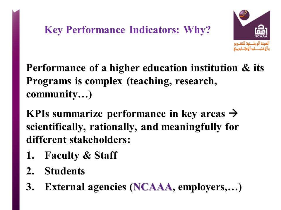 Key Performance Indicators: Why