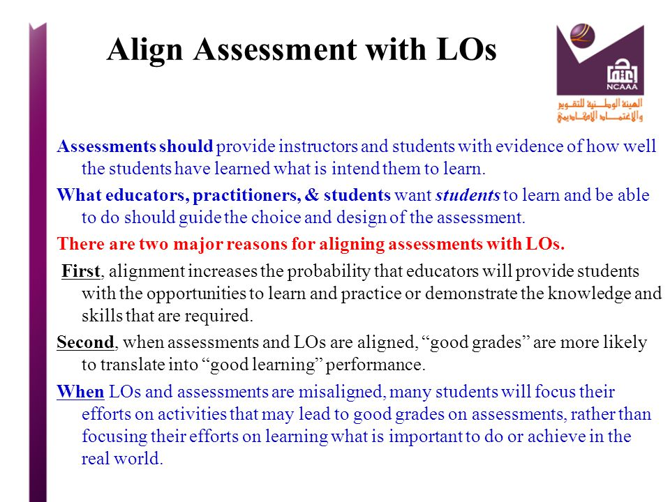 Align Assessment with LOs