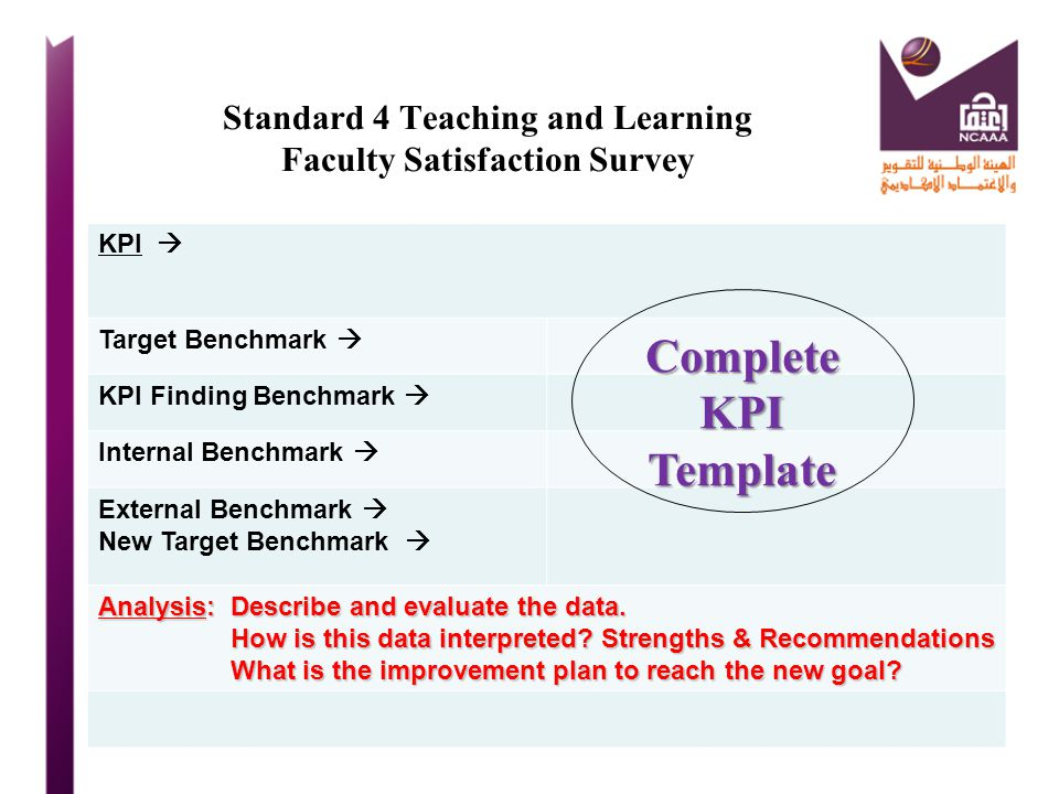 Standard 4 Teaching and Learning Faculty Satisfaction Survey