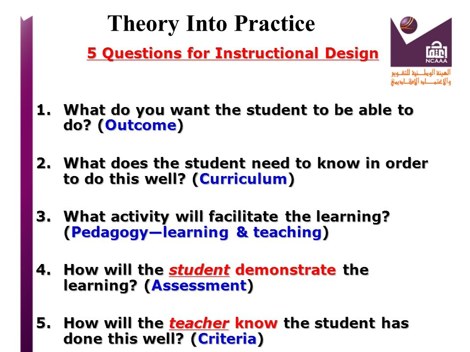 5 Questions for Instructional Design