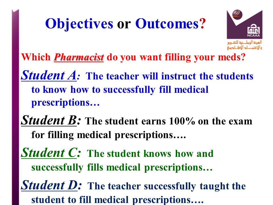 Objectives or Outcomes