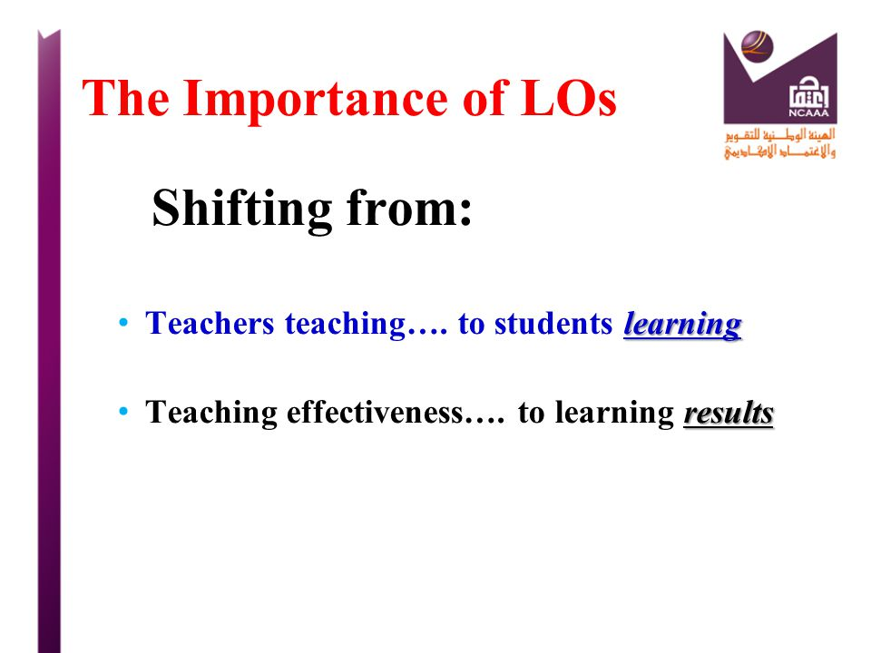 The Importance of LOs Shifting from: