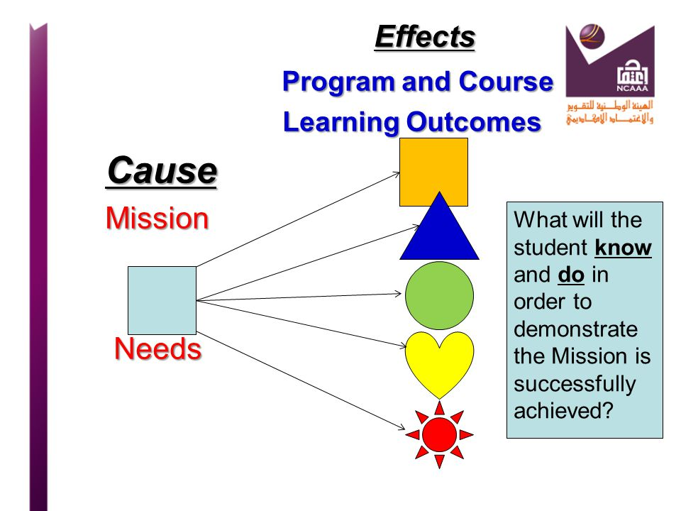 Effects Program and Course Cause Mission Needs Learning Outcomes