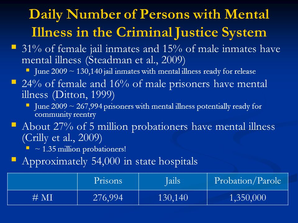 Daily Number of Persons with Mental Illness in the Criminal Justice System