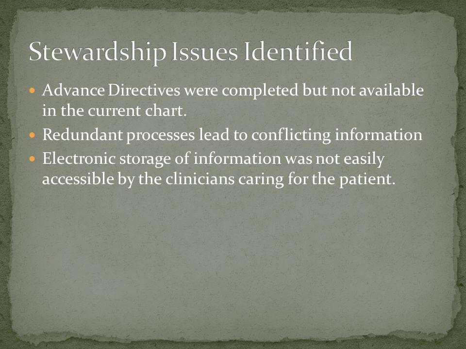 Stewardship Issues Identified