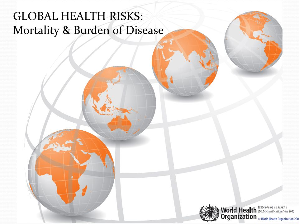 GLOBAL HEALTH RISKS: Mortality & Burden of Disease