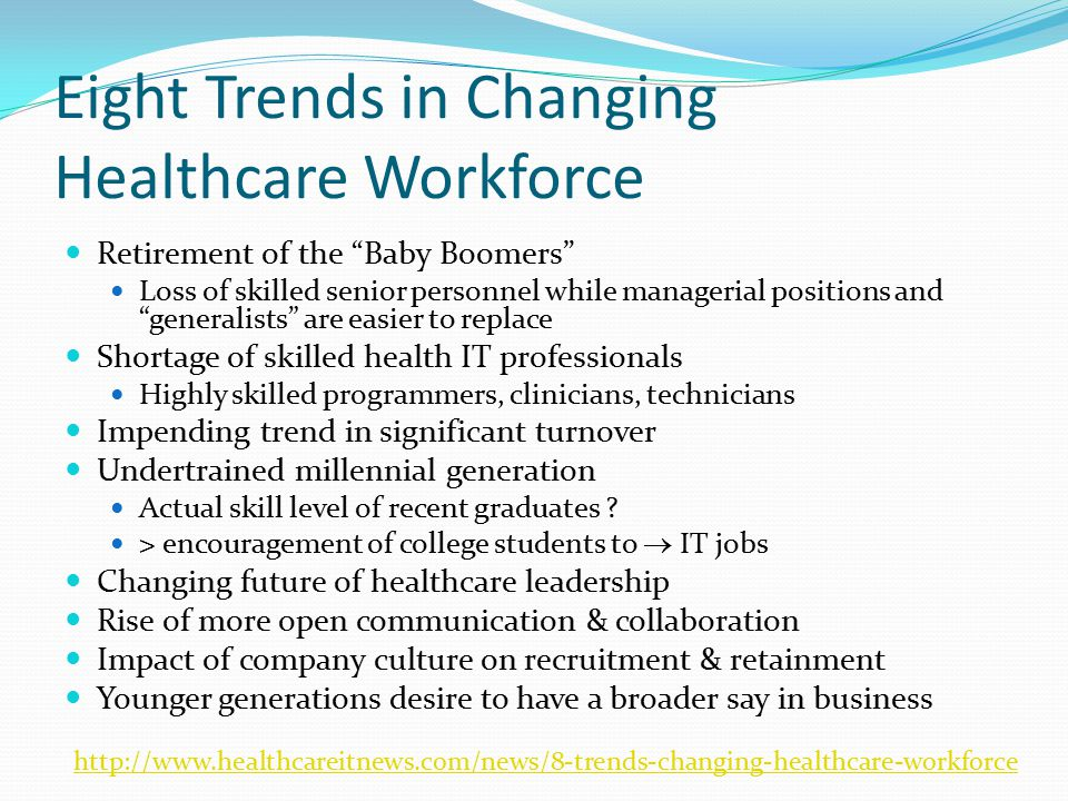 Eight Trends in Changing Healthcare Workforce