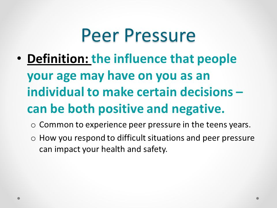 Extended definition essay on peer pressure