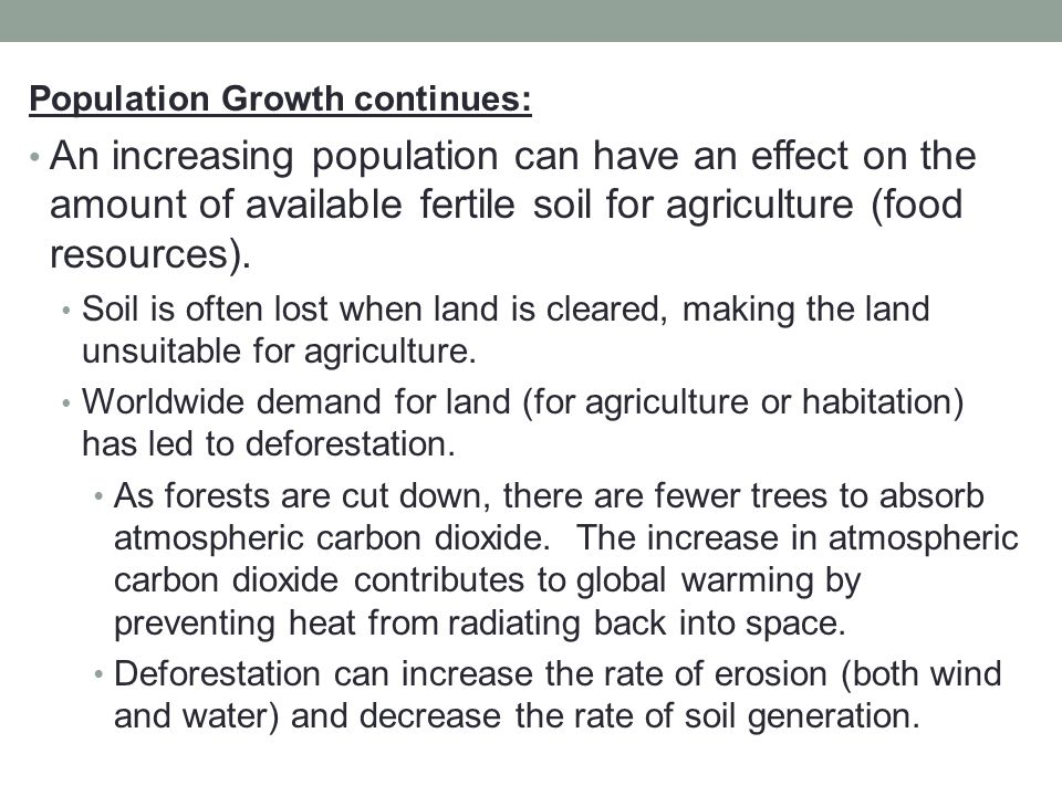 Population Growth continues: