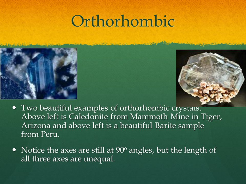 Orthorhombic