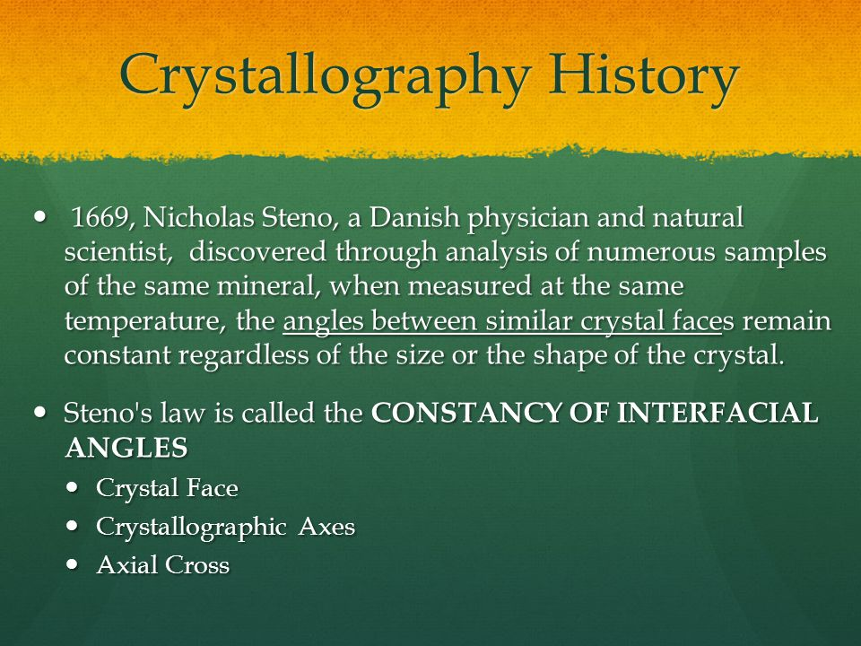 Crystallography History