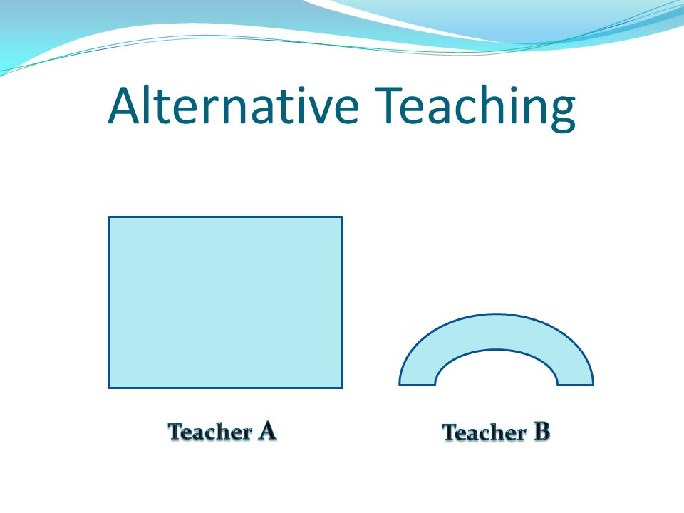 Alternative Teaching Teacher A Teacher B