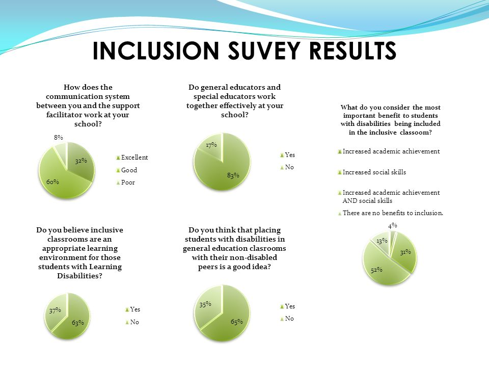 INCLUSION SUVEY RESULTS