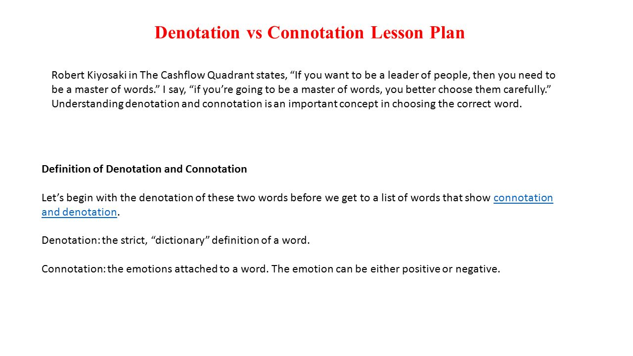 Uncategorized Connotation And Denotation Worksheet denotation vs connotation lesson plan ppt video online download plan