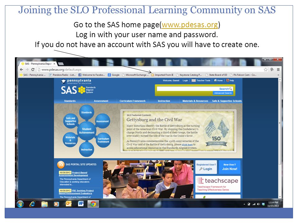 Joining the SLO Professional Learning Community on SAS